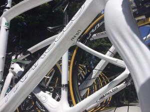 Bici predisposta sulle caratteristiche dell'attuale leader del Giro 2014 Uran Uran