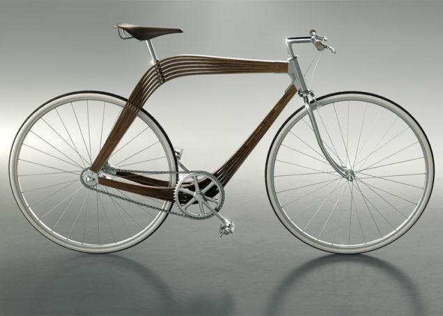 Telaio in legno per il concept di AERO - BiciTech
