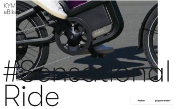 Kymko e-bike screenshot from kymko.es:ebike
