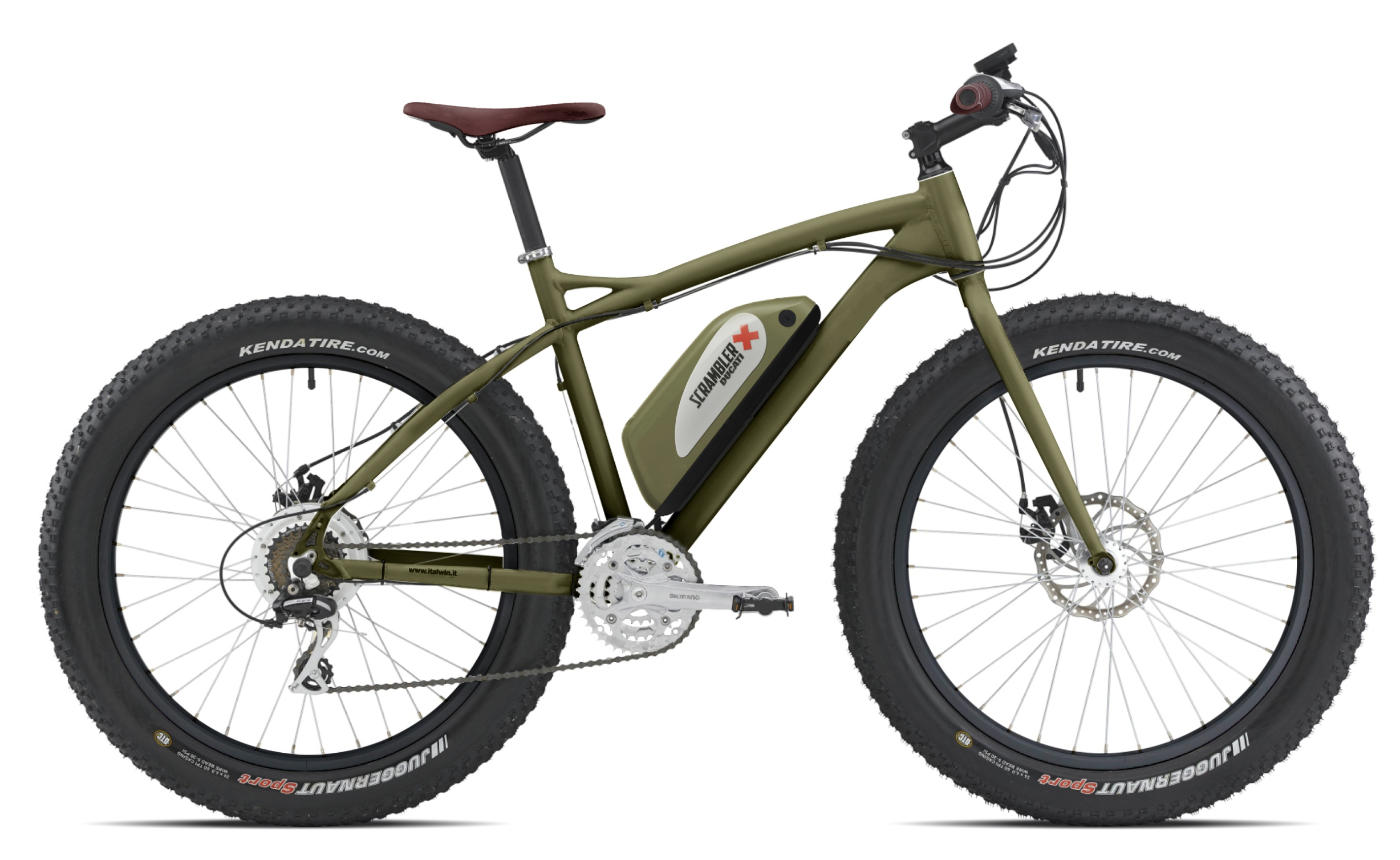 Fat E Bike Scrambler Ducati By Italwin Bicitech