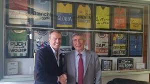 Davide Lauro VP Fausto Coppi (sn) con Cavalier Pietro Santini (dx)