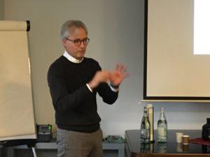 René Timmermans – CEO EMEA di Vittoria mentre spiega l'importanza dell'iniziativa BiciAcademy per le aziende sostenitrici come la sua.