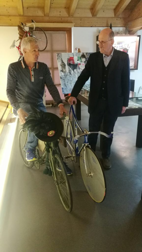 Bici militare prima guerra mondiale e bici record Vigorelli Moser - © Nicer