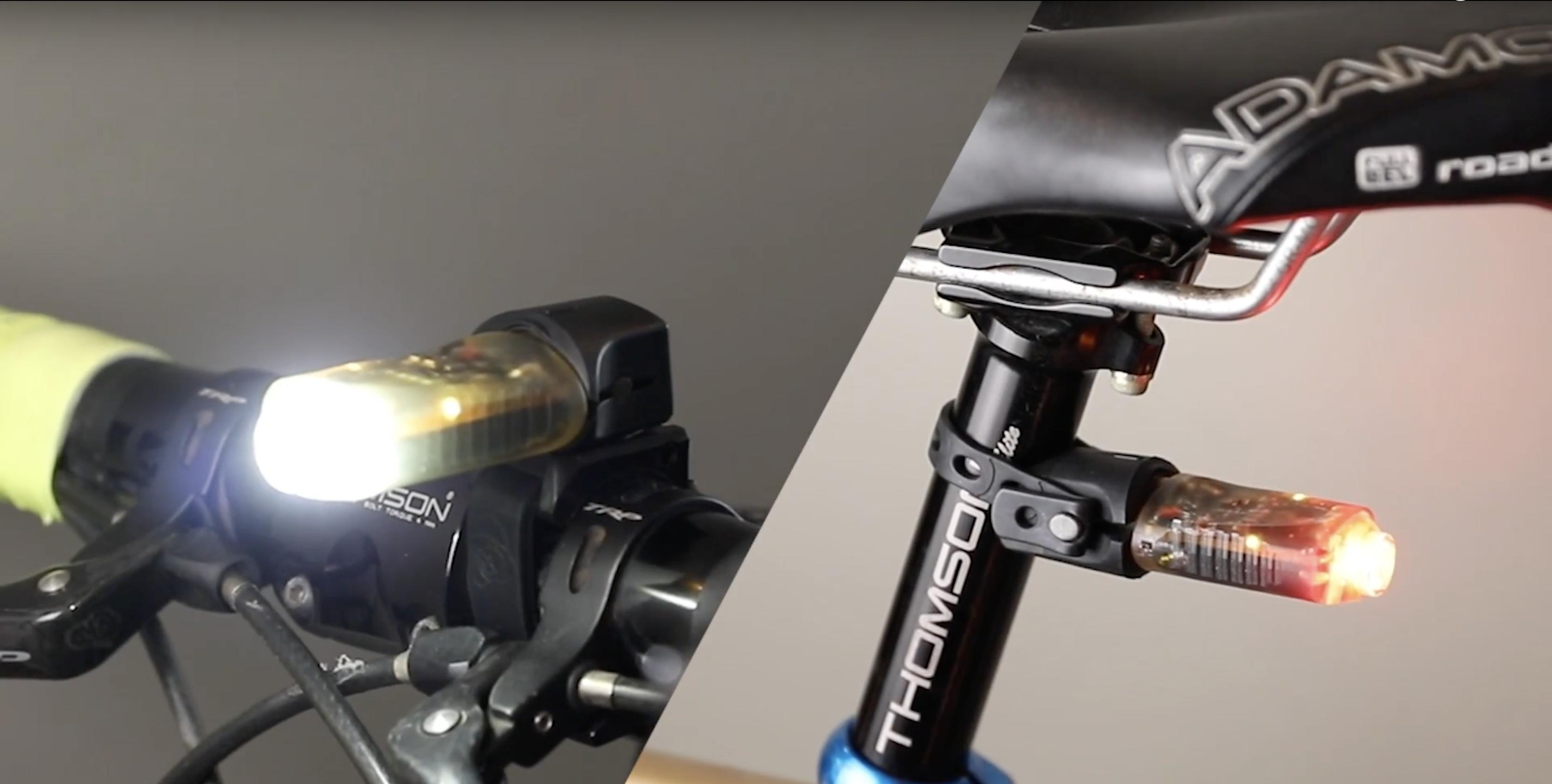 Vya lights luci per bici che si accendono grazie ad un colpo di