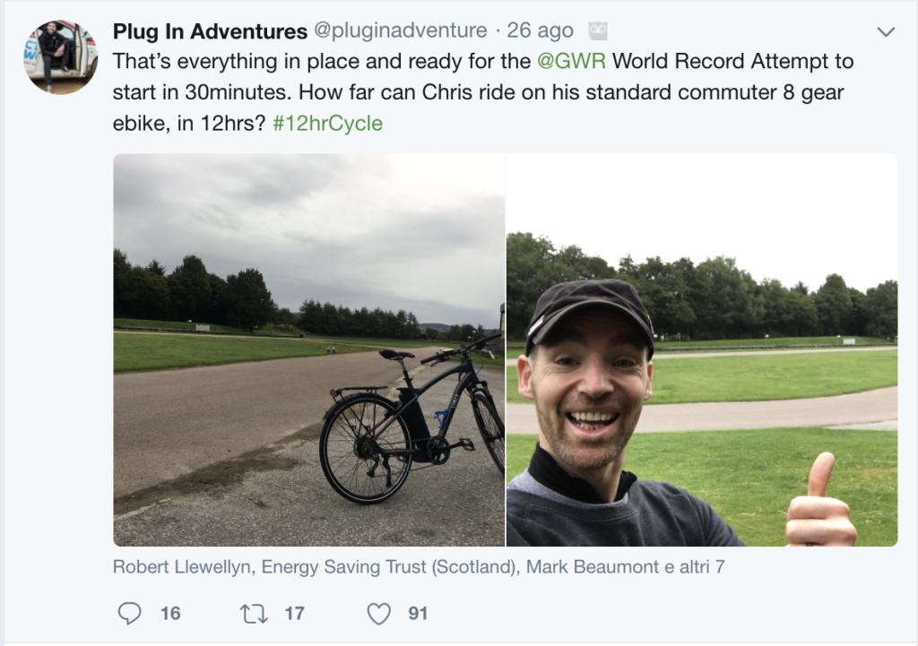 e-bike world record Plug In Adventures via Twitter 2