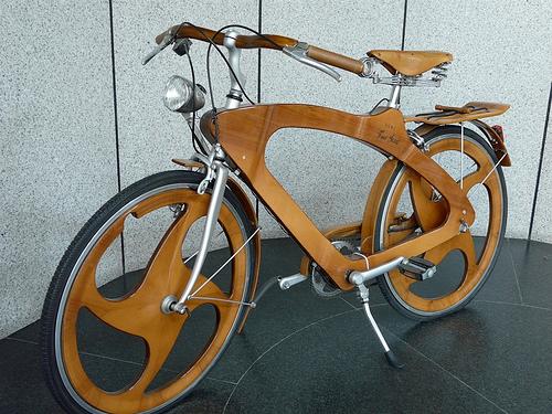 bici di legno woodbike