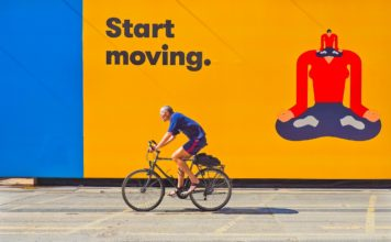 allenamento del ciclista urbano
